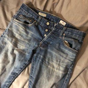 AG Matchbox faded denim jeans